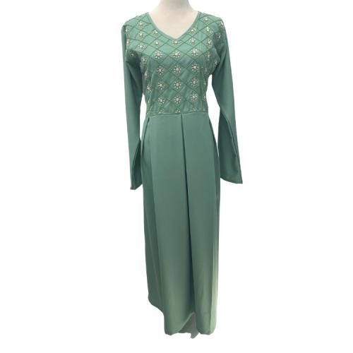 فستان نسائي أخضر فاتح